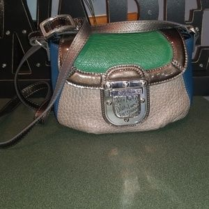 Brighton Color Block Leather Crossbody Bag NICE!